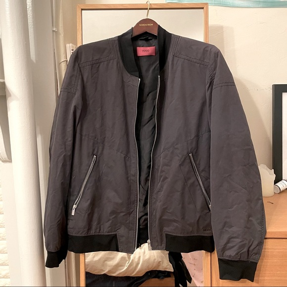 Hugo Boss Dark Grey Bomber Jacket